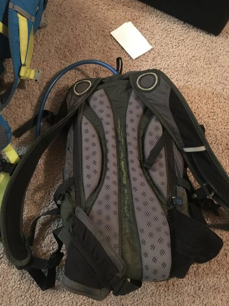 Camelbak. This is in good condition with the exception of some holes in bottom from scrambling down rocks for too long (thanks Epinephrine). Includes a 100oz camelbak reservoir. $30.