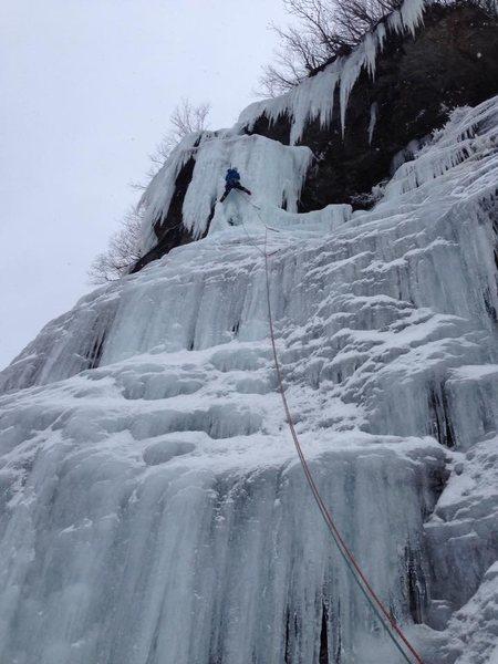 Rock Climbing Photo: January 2, 2016. Interesting wind blown ice format...