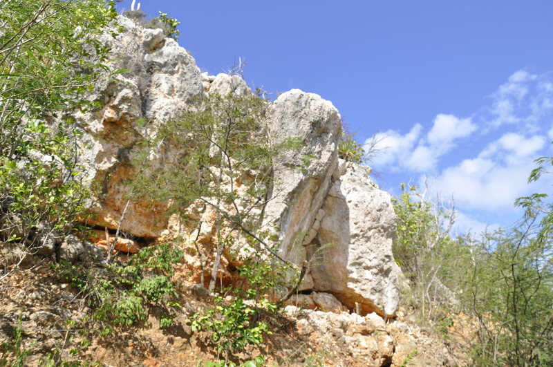 Rock Climbing Photo: Impero Romano V9 after clean up..