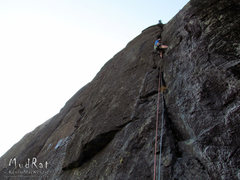 Rock Climbing Photo: Adam Crofoot on the Panther's Fang-2014.