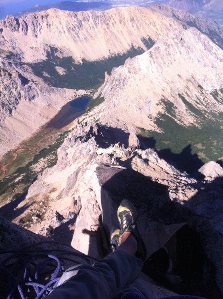 summit of Principal looking at La Vieja, M2, and Aguja Frey