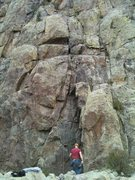 Rock Climbing Photo: the rope in this picture is set on Warm up.
