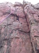 Rock Climbing Photo: Kacey half way up Gulliver's travels.
