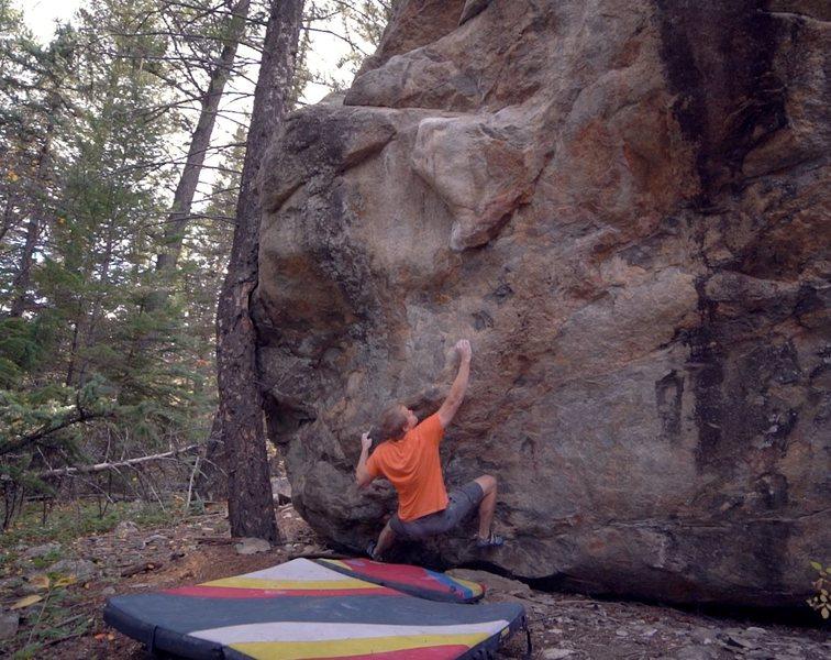 Rock Climbing Photo: The move to the crimp.
