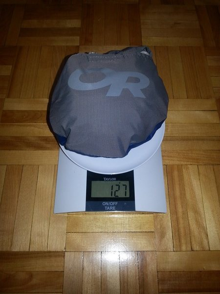 Stuff sack weight
