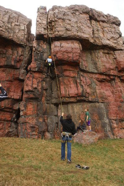 Rock Climbing Photo: My dad doing what he loves on Jammer.