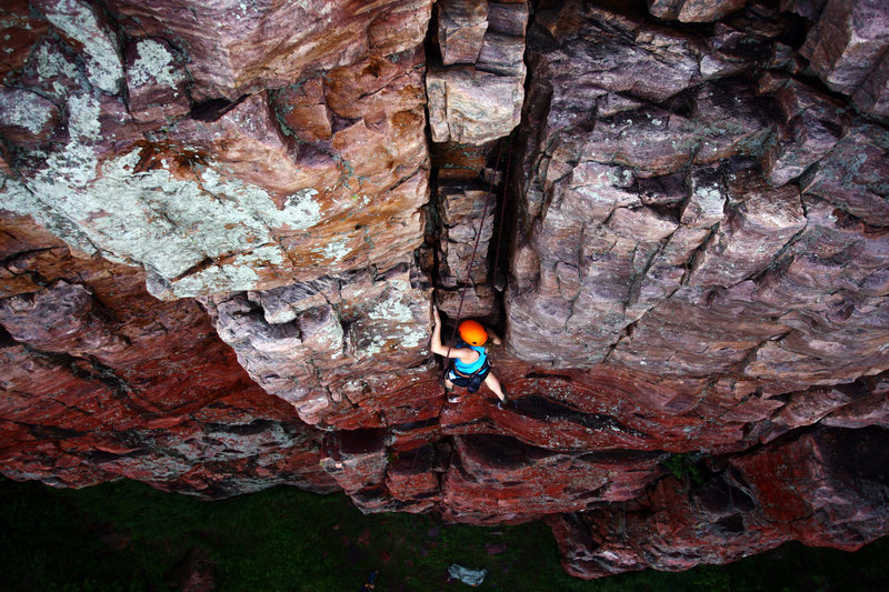 Rock Climbing Photo: A good shot of Ivy Right, this is likely the most ...
