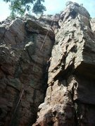 Rock Climbing Photo: sometimes the best way to go up is to wedge yourse...