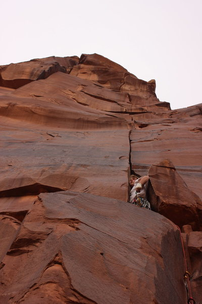 Rock Climbing Photo: Got to love the squeeze before the tight hands sec...
