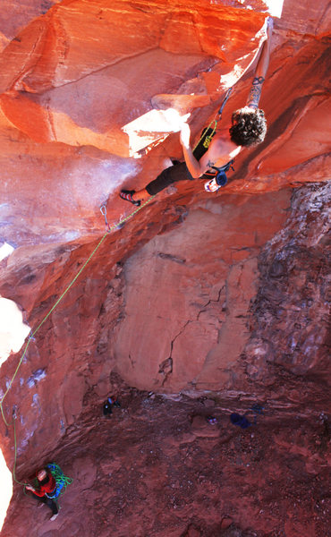 Rock Climbing Photo: thomas blasting off