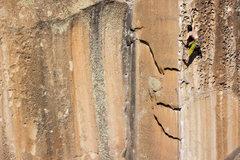 Rock Climbing Photo: Ben Wilbur working the last moves!