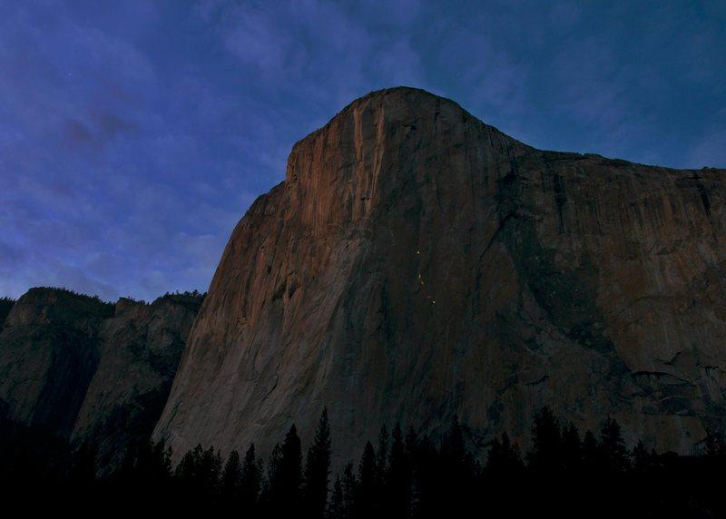 Rock Climbing Photo: Jorgeson & Caldwell - Dawn Wall