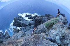 Rock Climbing Photo: Our tope rope set up.