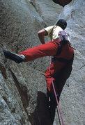 "Rock Climbing Photo: FA of ""Little Criminals"" (5.10b) in Dece..."