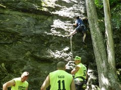 Rock Climbing Photo: Right at the start...
