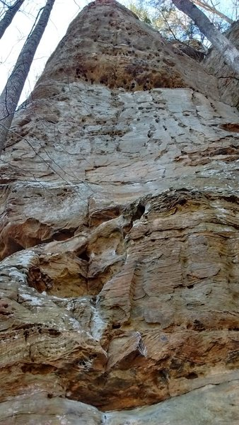 Rock Climbing Photo: Difficult to get the entire face in the photo...th...