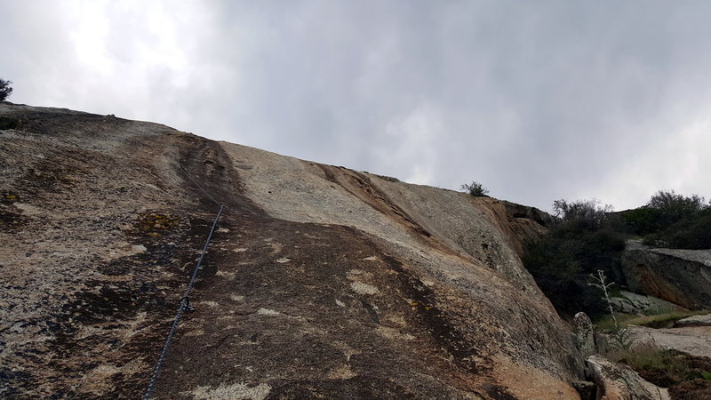 Taken from the 4th bolt on the 2nd pitch on Howdy Doody Time. As optional start to bypass the mungy crux between the 3rd and 4th bolt is to join up from the Frantic Manic Ledge (pictured right) at the 4th bolt.