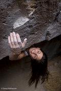 Rock Climbing Photo: Trinity Zyss rounding the corner of Mothership Con...