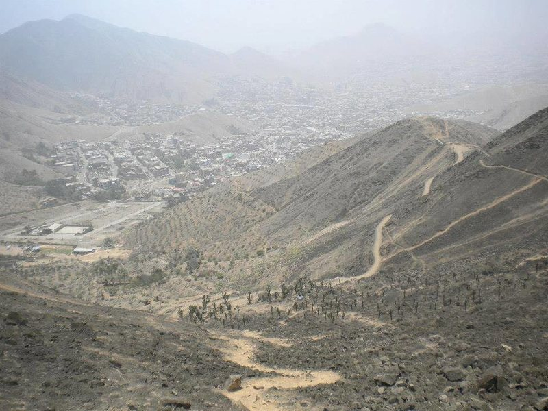 Rock Climbing Photo: View looking back towards Lima from Las Placas.......