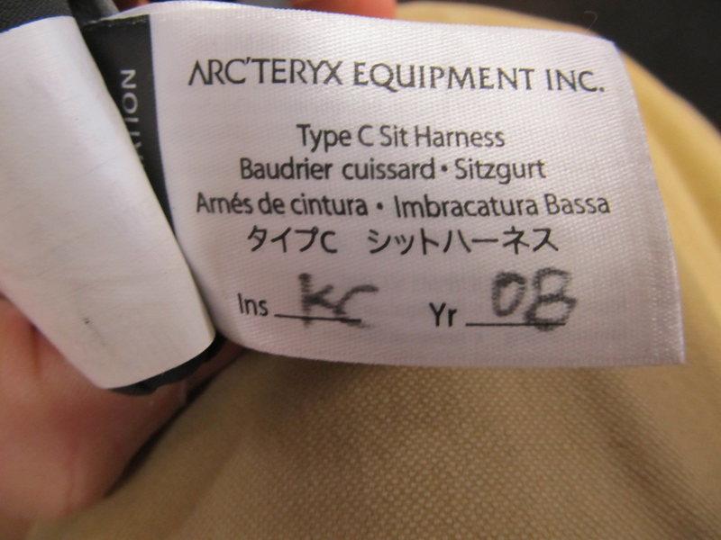Arc'teryx date tag