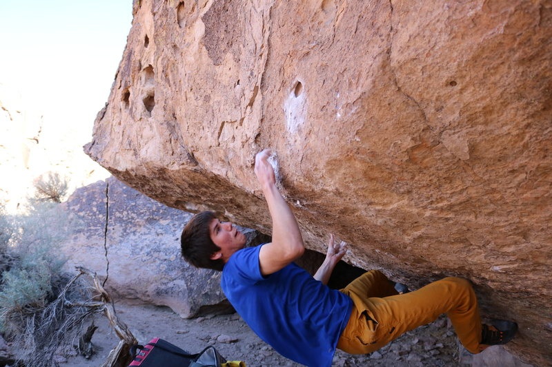 Rock Climbing Photo: Don't blow it here! Fight for it!
