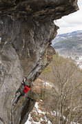 Rock Climbing Photo: The route really doesn't let up until this sidepul...