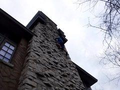 Rock Climbing Photo: On the way up.