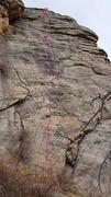 Rock Climbing Photo: Daisy Duck topo.