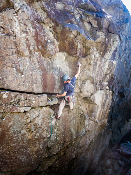 Rock Climbing Photo: After the crack, you can get a scary .4 in bad roc...