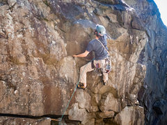 Rock Climbing Photo: Final moves, I was a little too far right here, an...
