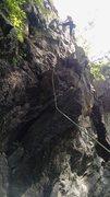 Rock Climbing Photo: KLs working her way up