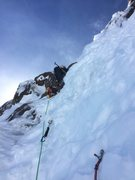 Rock Climbing Photo: Mike Getlin leading through the second and (more d...
