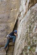 Rock Climbing Photo: Starting the climb off.