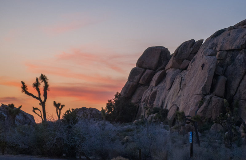 Rock Climbing Photo: Soloist we saw at sunset while having some parking...