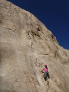 Rock Climbing Photo: Alissa starting up P1 of Mental Physics.