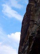 Rock Climbing Photo: Climber on Crimson Chrysalis.