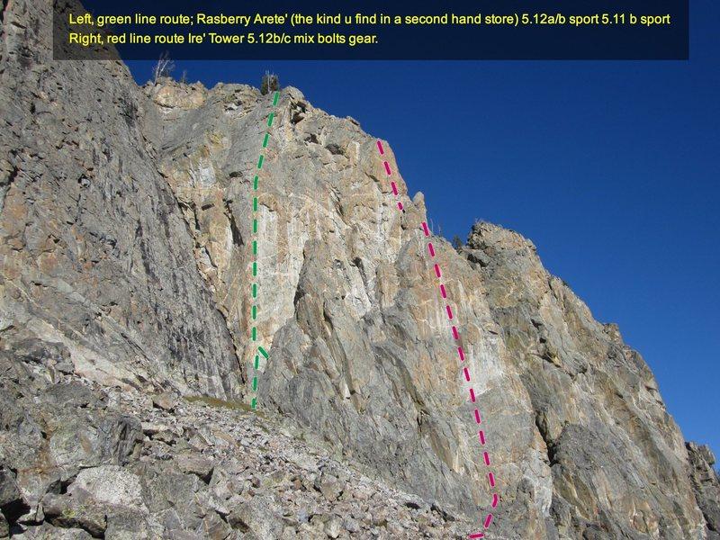 Rock Climbing Photo: Ire Tower II 5.12c = Red