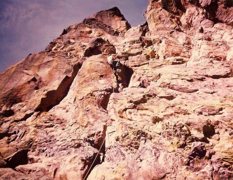 Rock Climbing Photo: Blind Faith in 1975 or '76 with Mark Jonas.