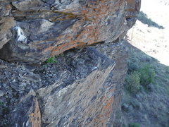 Rock Climbing Photo: Rope on Starless. Pic from the top of I'm Alright.