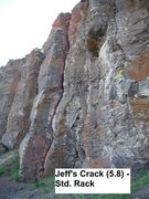 Rock Climbing Photo: Jeff's Crack Topo