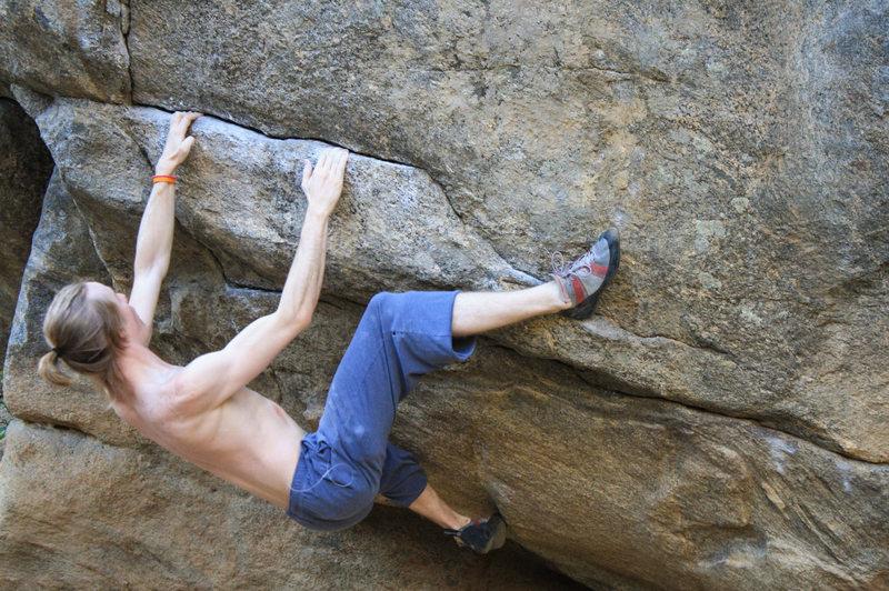 Rock Climbing Photo: Screwing around in Boulder Canyon, CO