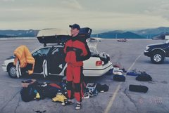 Rock Climbing Photo: Geared up for Mount Hood June 2000