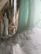 Rock Climbing Photo: A snowmobiler gave us a tour of Grand Island for f...