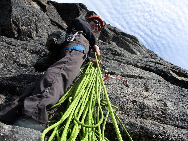 Rock Climbing Photo: A bolted belay on Condorphamine Addiction. More sl...