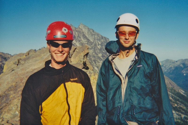 Phil and I on North Ingalls Peak, summer 2001.