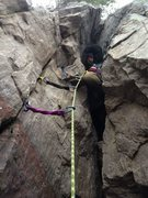 Rock Climbing Photo: Here I am on my first off-width as you can tell by...