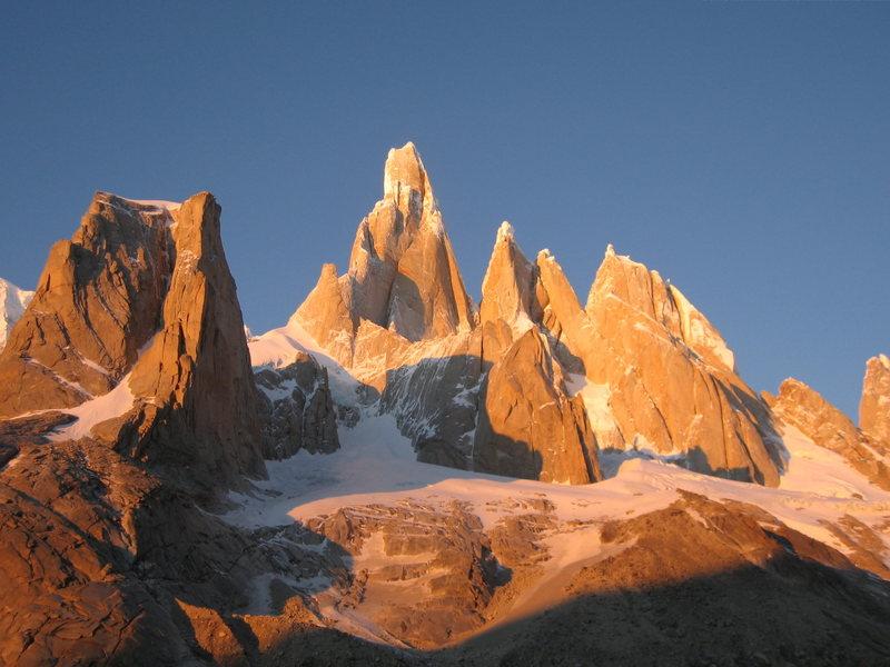 Cerro Torre at sun rise, 2007