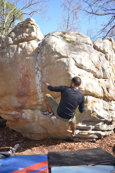 Getting the send on drying rock.