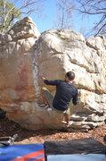 Rock Climbing Photo: Getting the send on drying rock.