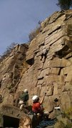 Rock Climbing Photo: Fall shot of Minnesota strip. Climber on top rope ...
